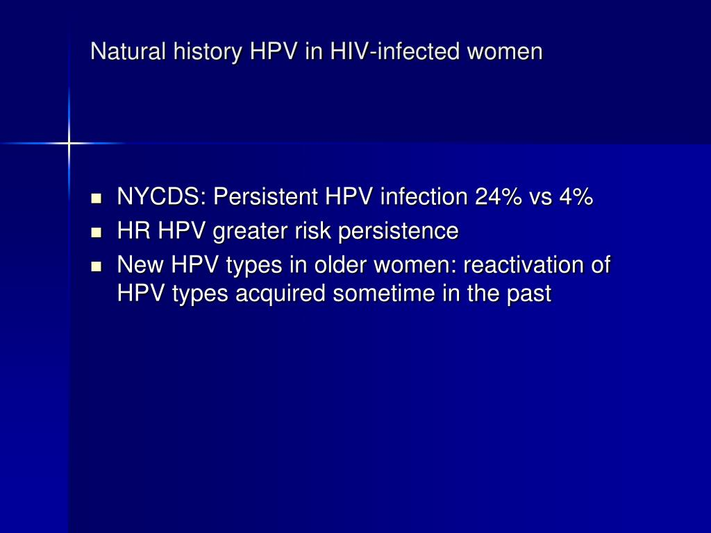 Natural history HPV in HIV-infected women