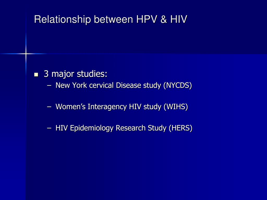 Relationship between HPV & HIV