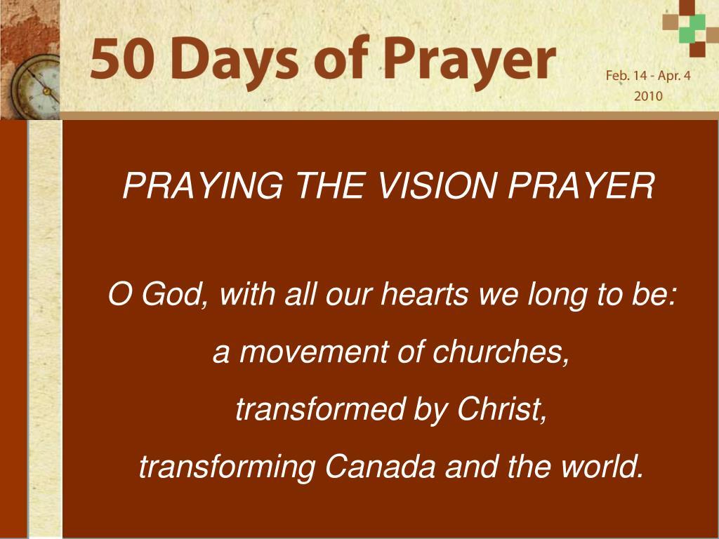 praying the vision prayer l.