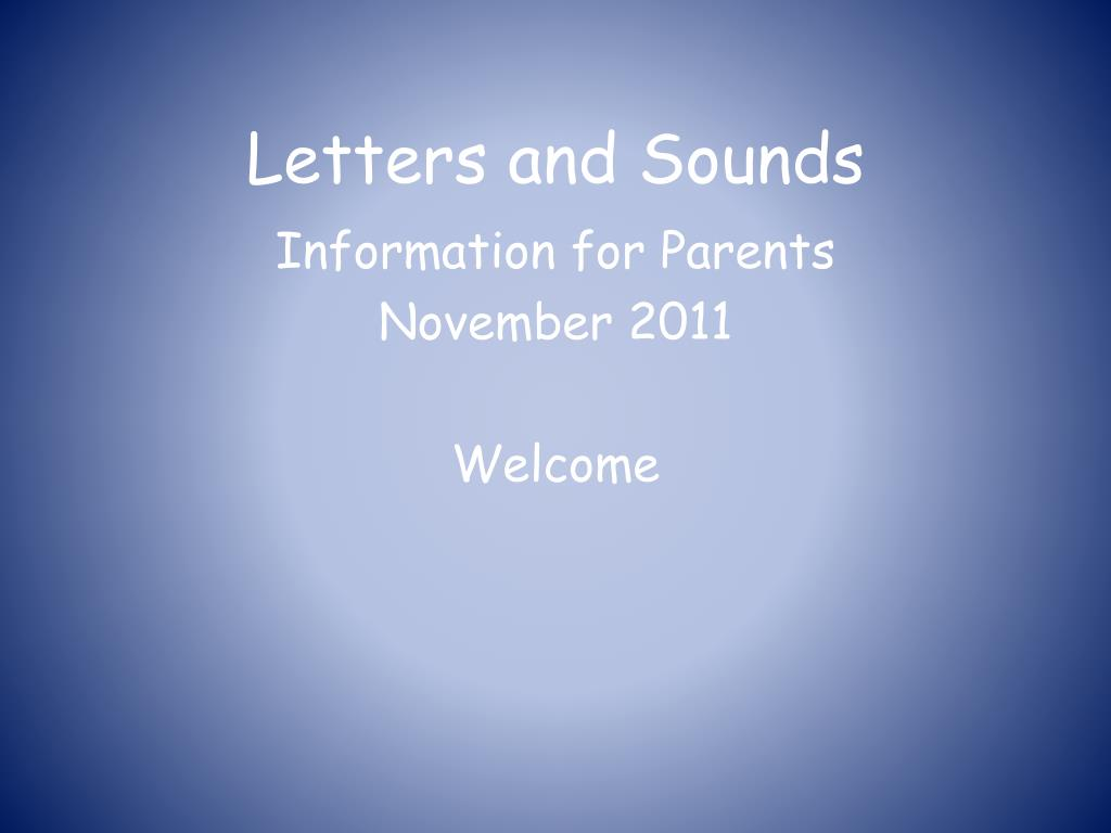 letters and sounds l.