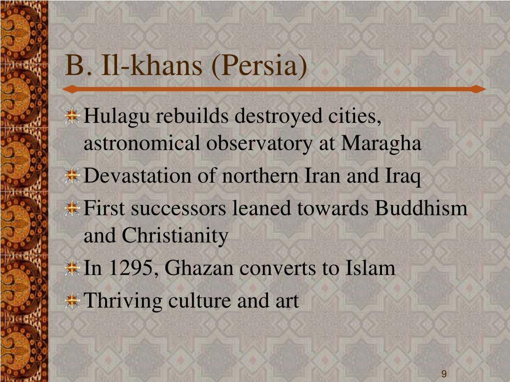 B. Il-khans (Persia)