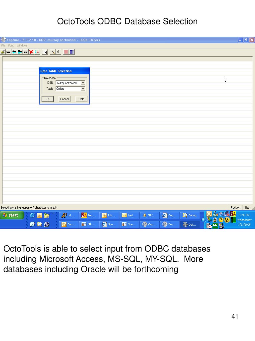 OctoTools ODBC Database Selection