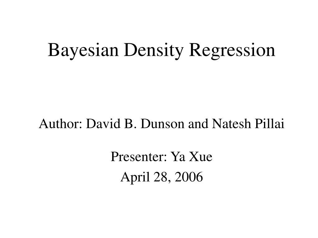 Bayesian Density Regression