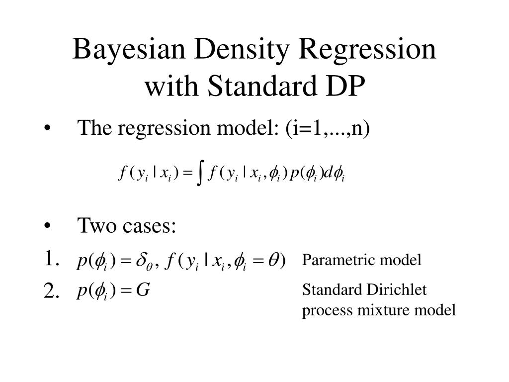 Bayesian Density Regression with Standard DP