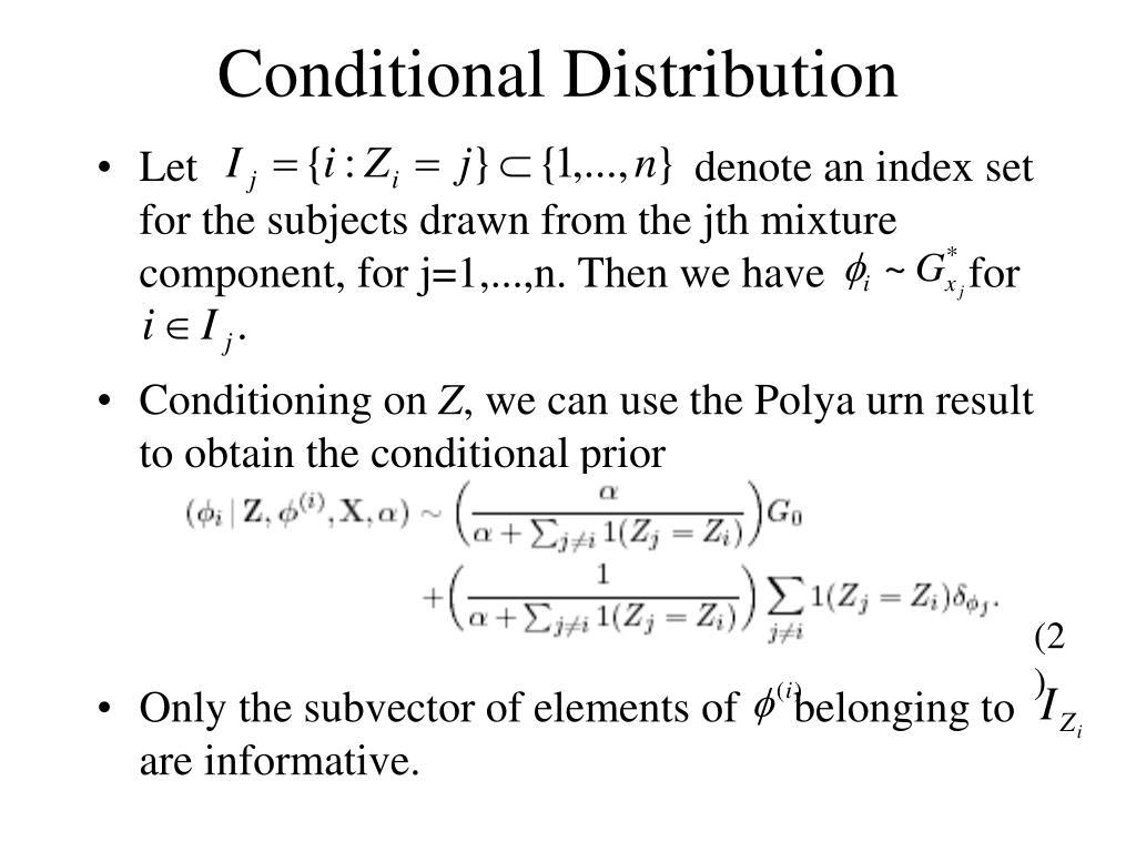 Conditional Distribution
