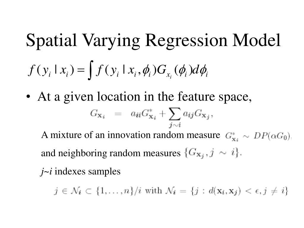 Spatial Varying Regression Model