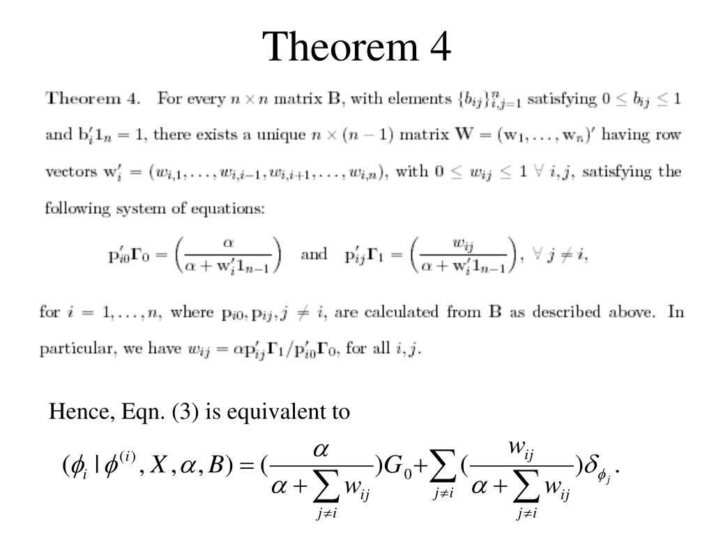 Theorem 4