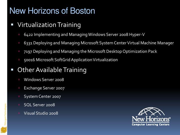 New horizons of boston3