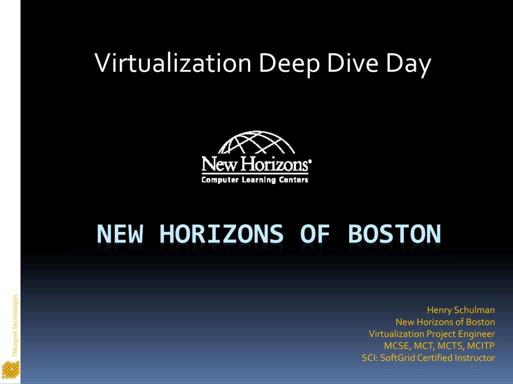 Virtualization Deep Dive Day