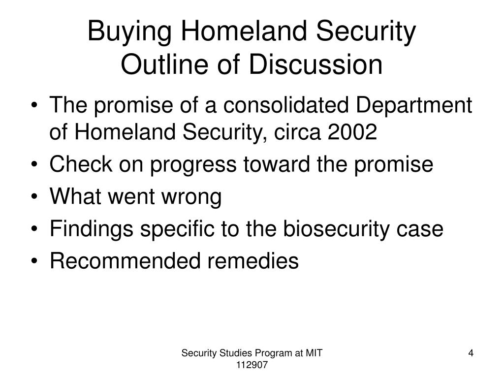 Buying Homeland Security