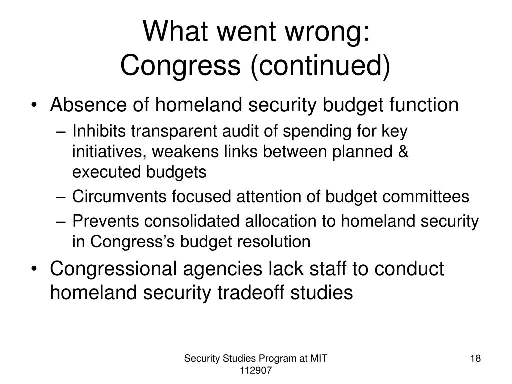 What went wrong: