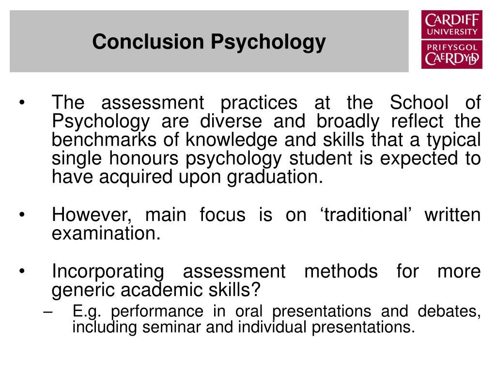 Conclusion Psychology