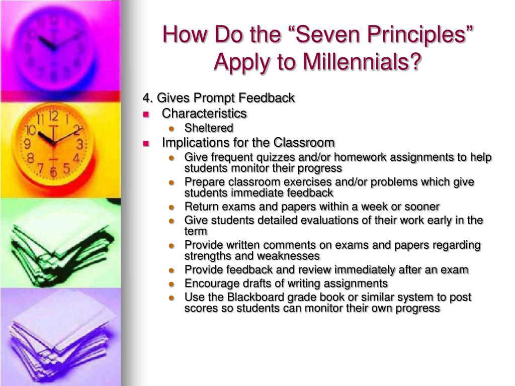 "How Do the ""Seven Principles"" Apply to Millennials?"