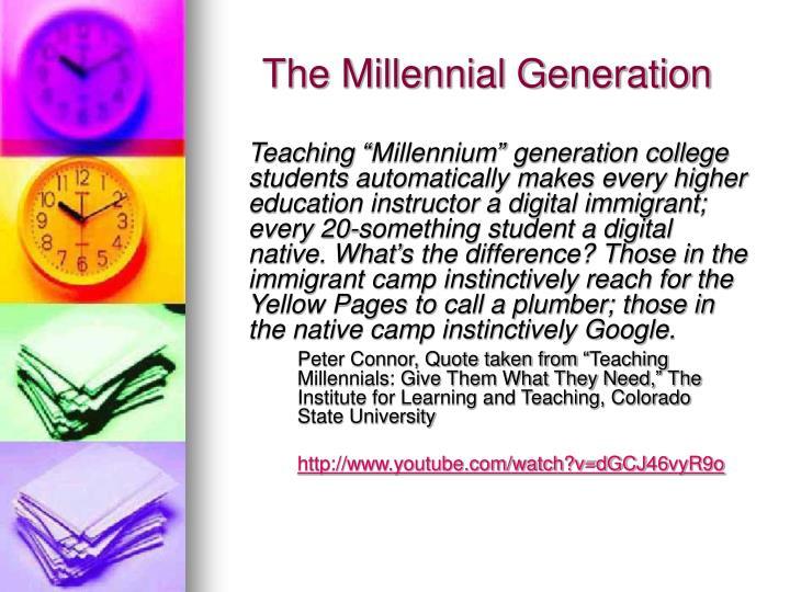 The millennial generation