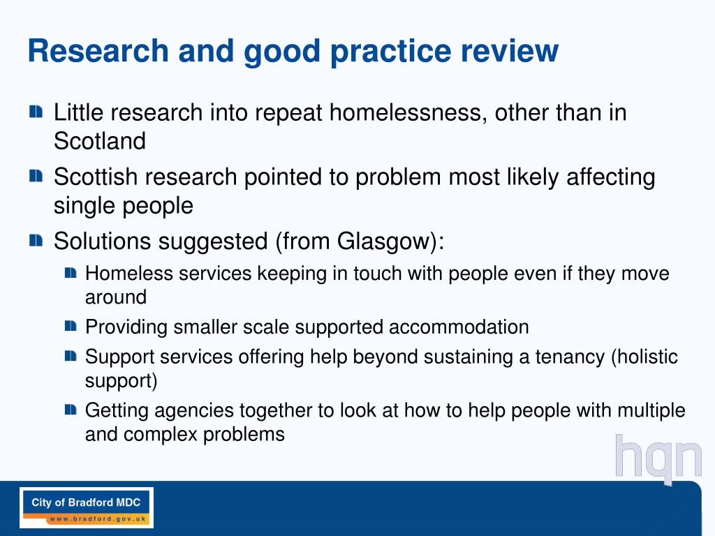 Research and good practice review