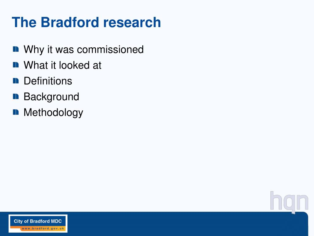 The Bradford research