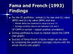 fama and french 1993 findings