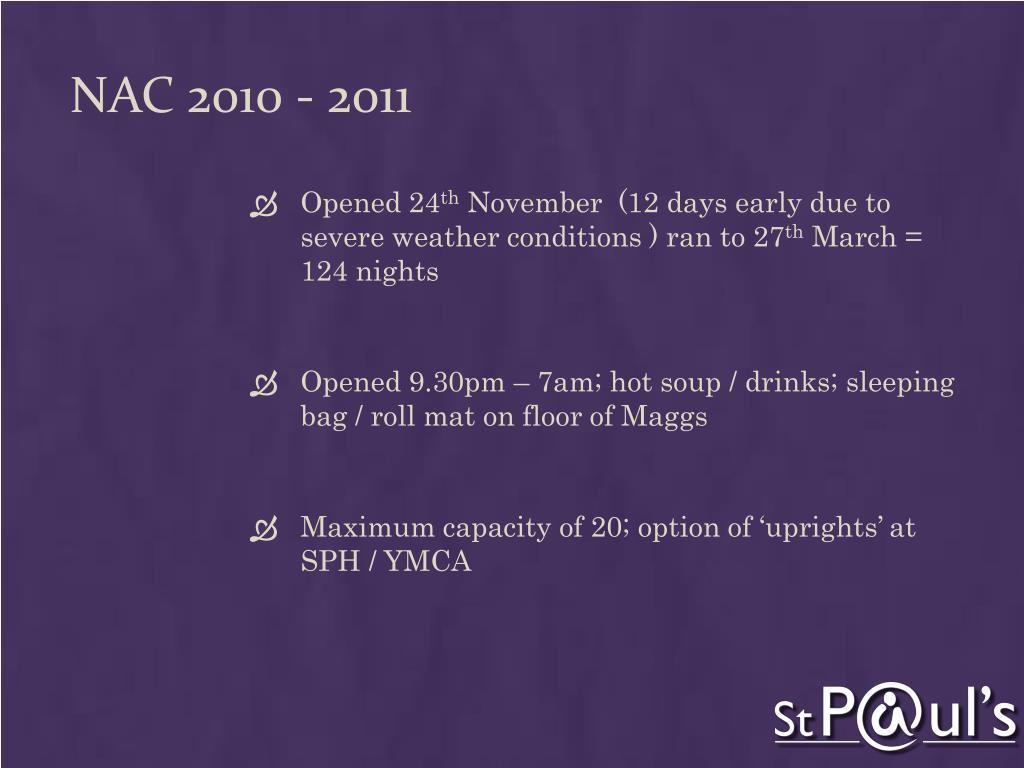 NAC 2010 - 2011