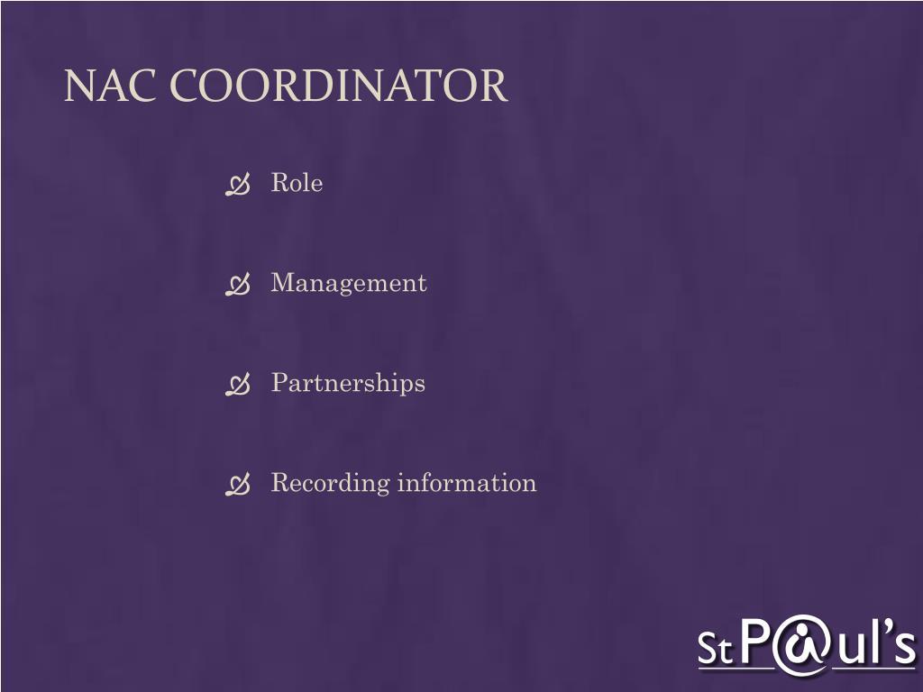 NAC Coordinator