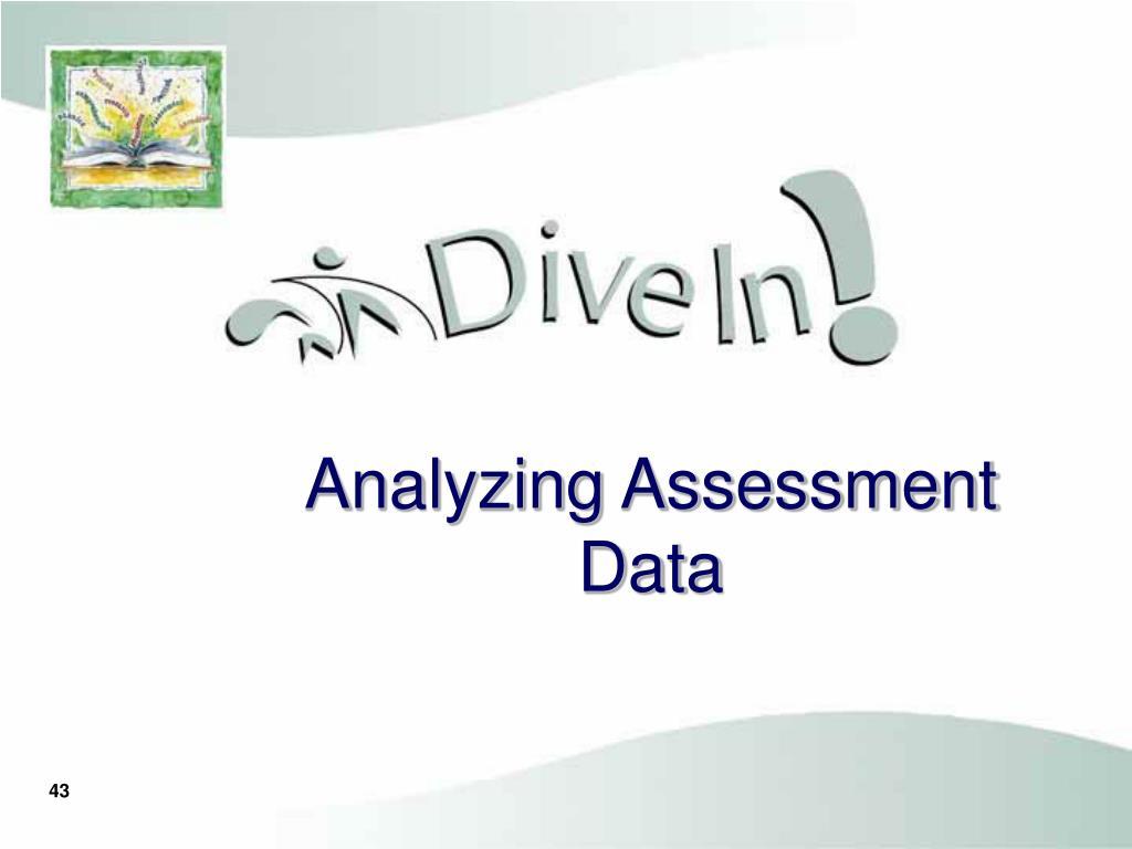 Analyzing Assessment Data