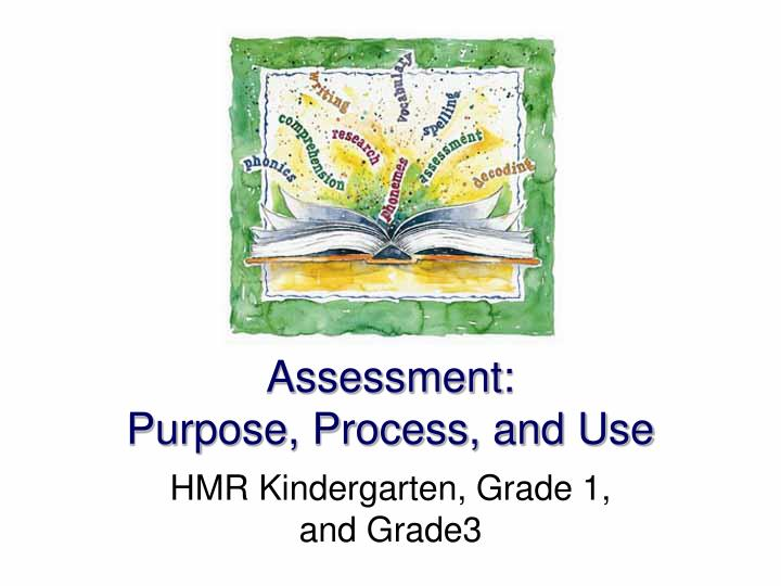 Assessment purpose process and use