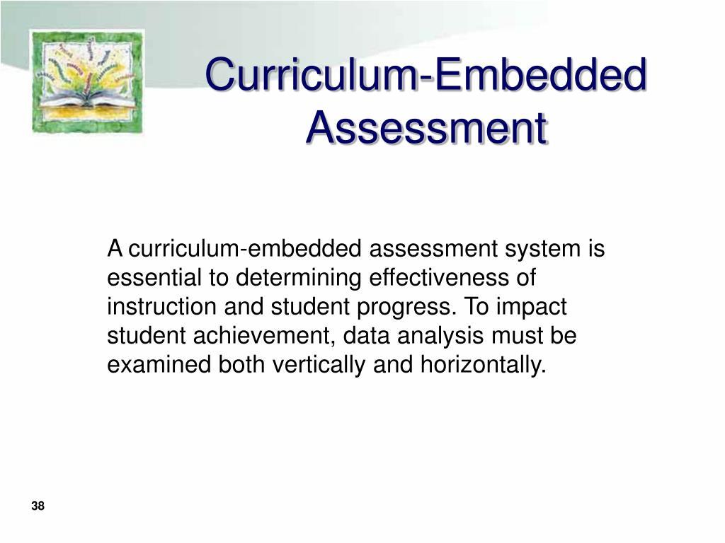Curriculum-Embedded Assessment
