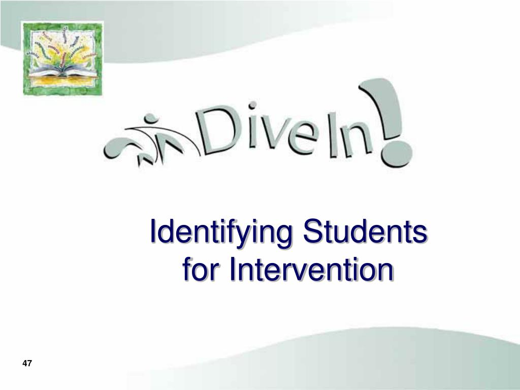 Identifying Students for Intervention