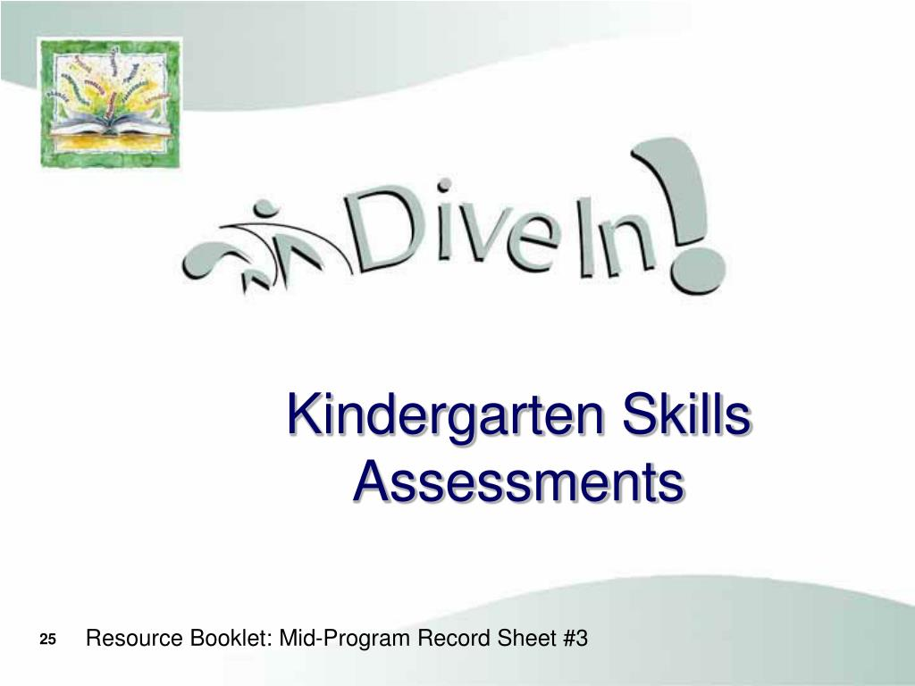Kindergarten Skills Assessments