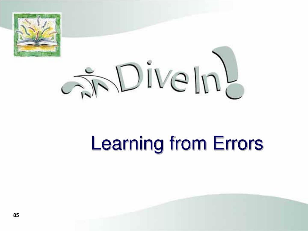 Learning from Errors