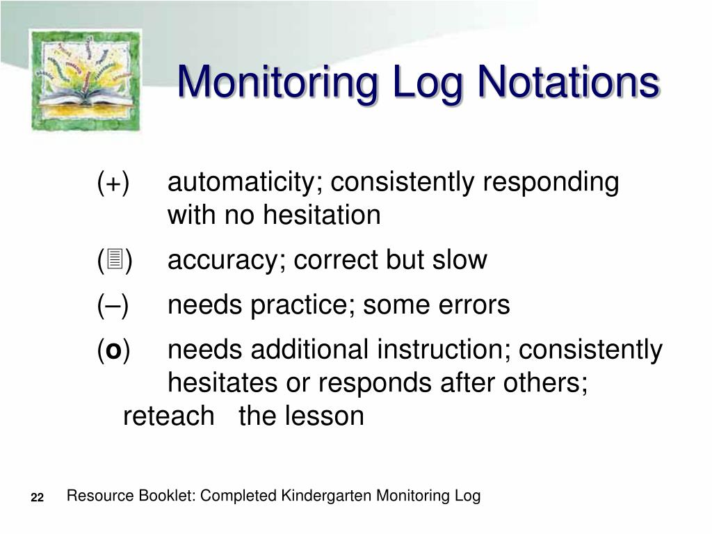 Monitoring Log Notations