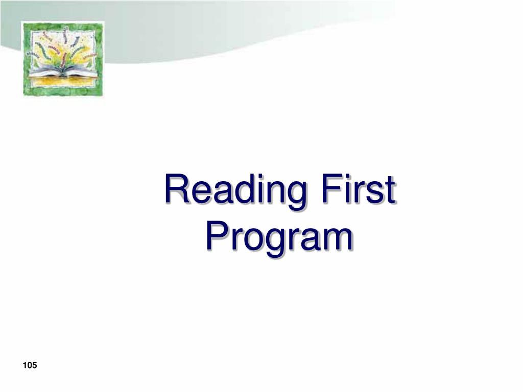 Reading First Program