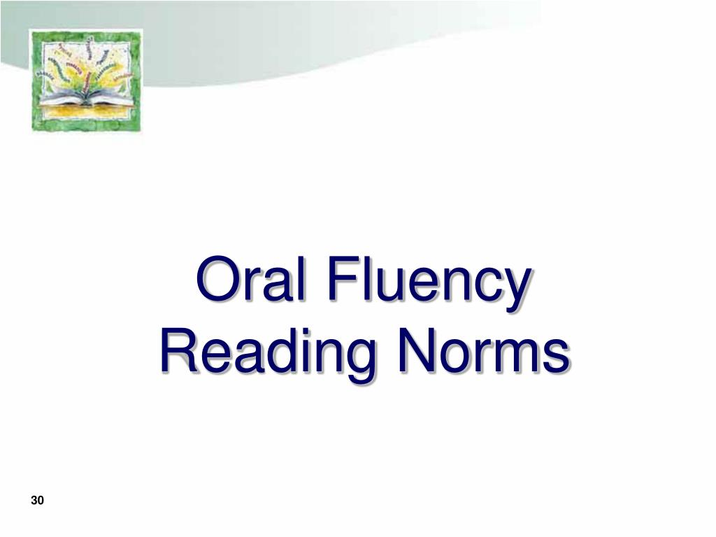 Oral Fluency Reading Norms