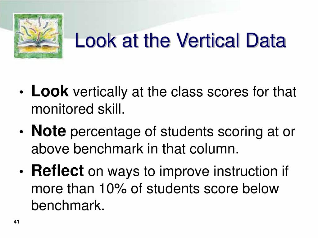 Look at the Vertical Data