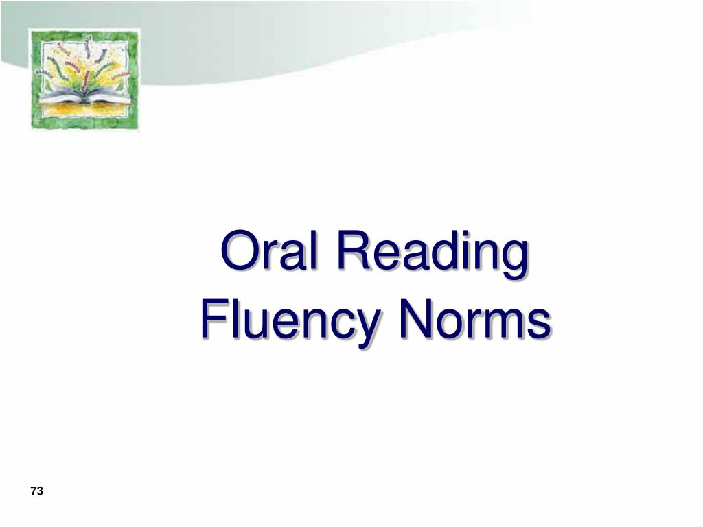 Oral Reading Fluency Norms