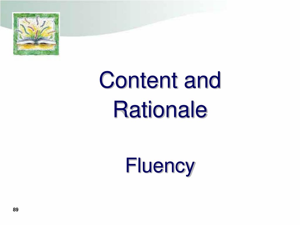 Content and Rationale