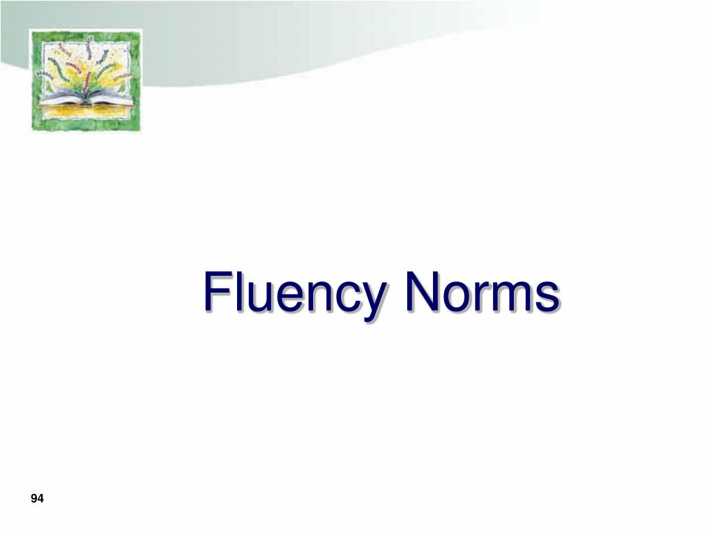 Fluency Norms