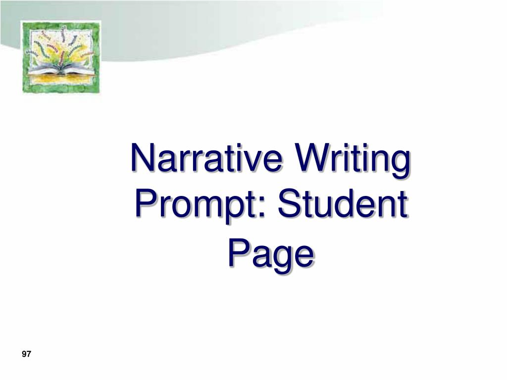 Narrative Writing Prompt: Student Page