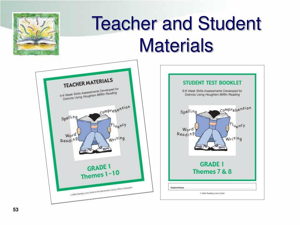 Teacher and Student Materials