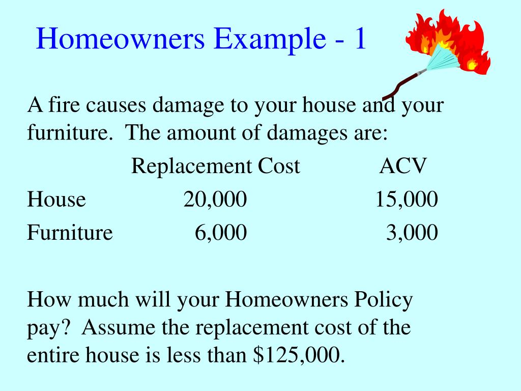 Homeowners Example - 1