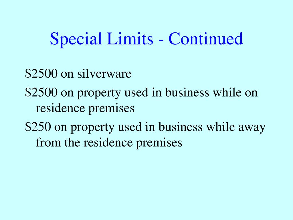 Special Limits - Continued