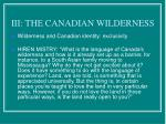iii the canadian wilderness