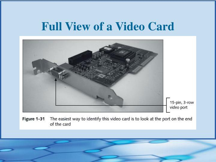Full View of a Video Card