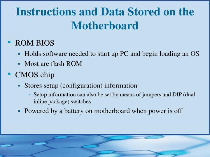 Instructions and Data Stored on the Motherboard