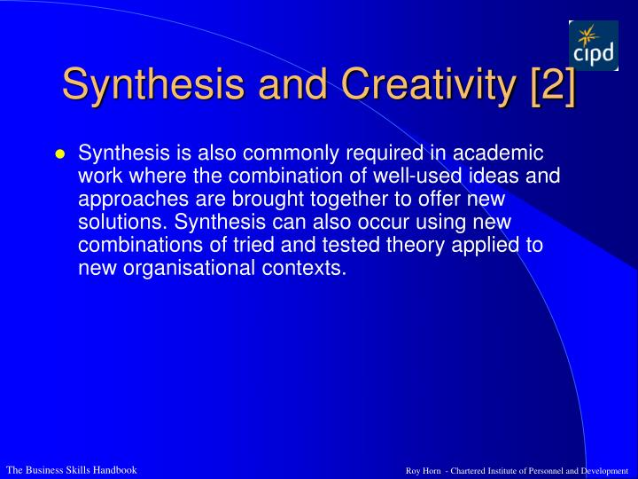 Synthesis and Creativity [2]