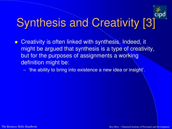 Synthesis and Creativity [3]