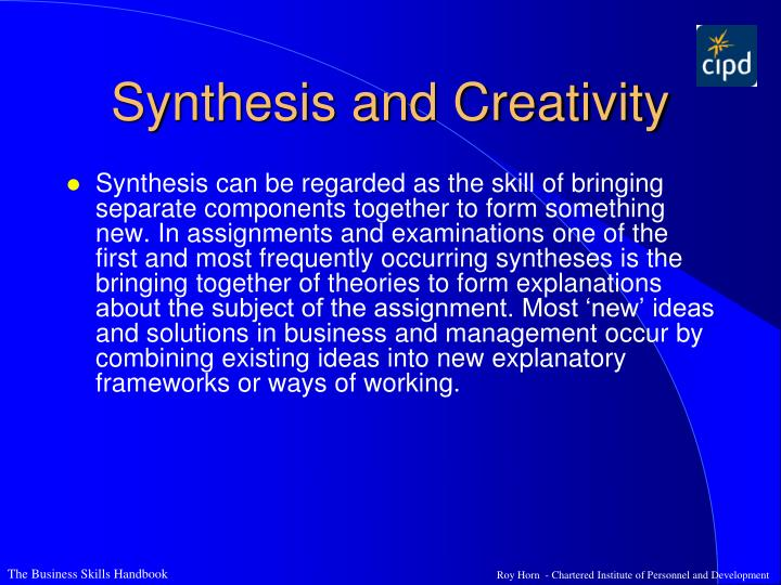 Synthesis and Creativity