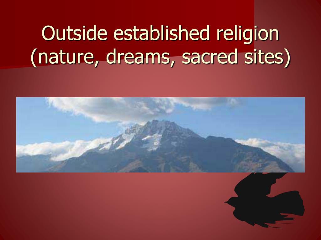Outside established religion