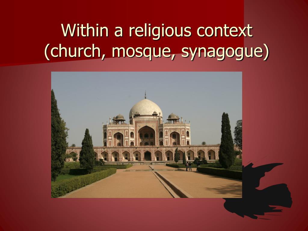 Within a religious context