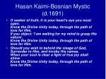 hasan kaimi bosnian mystic d 1691