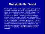 muhyiddin ibn arabi